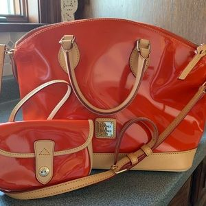 Beautiful & Roomy Dooney & Bourke Satchel/Wallet